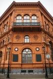 De historische bouw of gezicht in Riga, Letland of Republiek Letland Neoclassicism in architectuur of architecturale stijl stock foto's
