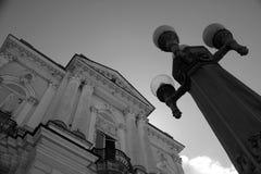 De historische bouw in het centrum van Manaus stock foto