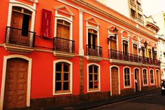 De historische bouw in het centrum van São Paulo royalty-vrije stock foto's