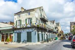 De historische bouw in het Franse Kwart Royalty-vrije Stock Afbeelding