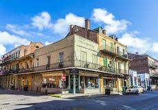De historische bouw in het Franse Kwart Stock Foto