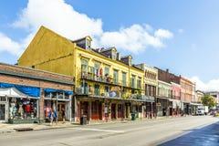 De historische bouw in het Franse Kwart in New Orleans Royalty-vrije Stock Afbeelding