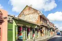 De historische bouw in het Franse Kwart in New Orleans Royalty-vrije Stock Afbeeldingen