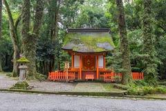 De historische bouw in het heiligdom van de V.S. Jingu, Oita, Japan royalty-vrije stock foto's