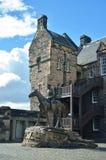 De historische bouw, het Kasteel van Edinburgh Stock Foto