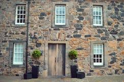De historische bouw, het Kasteel van Edinburgh Stock Afbeeldingen