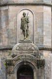 De historische Bouw met William Wallace Statue in Stirling stock afbeeldingen