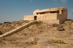 De historische bouw op Farasan-Eiland in Saudi-Arabië royalty-vrije stock foto