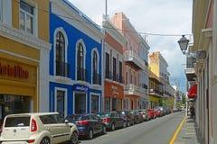 De historische bouw in Oud San Juan, Puerto Rico royalty-vrije stock foto