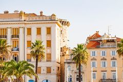 De historische bouw in Spleet, Kroatië Stock Foto