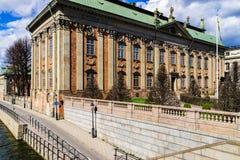 De historische bouw in Stockholm, Zweden Stock Foto