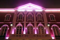 De historische bouw van het theater, Lissabon Stock Foto