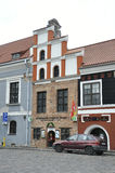 De 21.2014-historische bouw van Kaunasaugustus in Kaunas in Litouwen Stock Fotografie