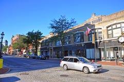 De historische bouw van Lowell, Massachusetts, de V.S. stock afbeelding