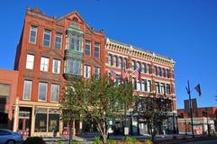 De historische bouw van Lowell, Massachusetts, de V.S. royalty-vrije stock foto's