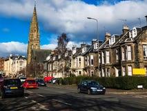 De historische de bouwplaats in de oude stad van Edinburgh, Schotland, het UK Stock Foto