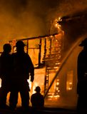 De historische Brand van het Landbouwbedrijf van Vermont Stock Foto