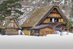 De historische dorpen van shirakawa-gaan in de winter, een Wereld Cultur stock fotografie