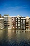 De historische gebouwen van Amsterdam Stock Afbeeldingen