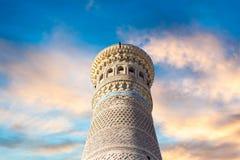 De historische gebouwen van de de moskeearchitect van stadsboukhara oude Stock Foto