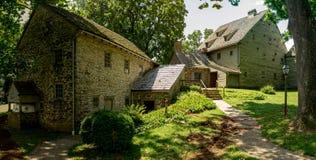 De Historische Gebouwen van het Ephrataklooster in de Provincie van Lancaster, Pennsylvania Royalty-vrije Stock Afbeelding