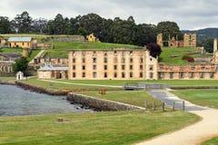 De historische gevangenis van het Port Arthur in Tasmanige Royalty-vrije Stock Foto's