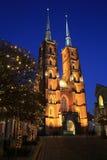 De historische Heilige John Baptist Catherdral in Wroclaw, Polen stock afbeelding