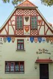 De historische Hof Bouw in Quedlinburg, Duitsland Royalty-vrije Stock Afbeelding