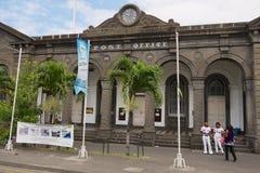 De historische hoofdpostkantoorbouw in Haven Louis, het eiland van Mauritius stock fotografie