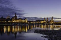 De historische horizon van Dresden Royalty-vrije Stock Fotografie