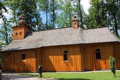 De historische houten kerk van Onze Dame van Czestochowa in Zakopane Royalty-vrije Stock Fotografie