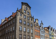 De historische huizen in de oude stad Stock Afbeeldingen