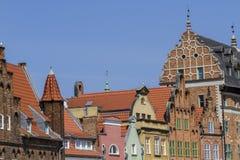 De historische huizen in de oude stad Royalty-vrije Stock Afbeeldingen