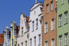 De historische huizen in de oude stad Stock Afbeelding