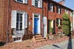 De historische huizen van Annapolismaryland Royalty-vrije Stock Afbeeldingen