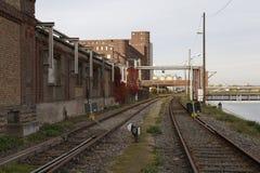 De historische industriële bouw stock afbeelding