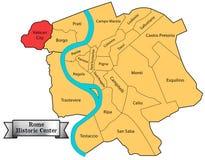 De historische kaart van centrumrome Royalty-vrije Stock Foto