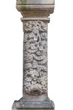 De historische kolom - die op wit wordt geïsoleerd Stock Foto's