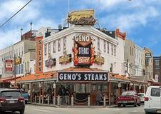De historische Lapjes vlees van Geno ` s, Philadelphia, Pennsylvania royalty-vrije stock afbeelding