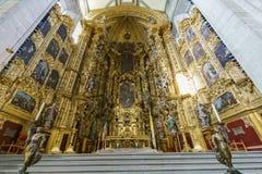 De historische Metropolitaanse Kathedraal van Mexico-City stock afbeeldingen