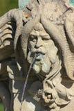 de de historische ornamenten en voorwerpen van fonteindetails stock foto's
