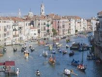De Historische Regatta van Venetië stock afbeeldingen