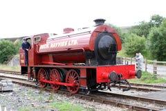 De historische Rode Motor van de Stoomtrein Stock Foto