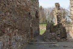 De historische ruïnes van de Basingwerkabdij in Greenfield, dichtbij Holywell-Noord-Wales Royalty-vrije Stock Afbeeldingen