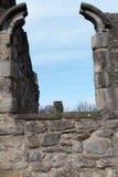 De historische ruïnes van de Basingwerkabdij in Greenfield, dichtbij Holywell-Noord-Wales Stock Foto's