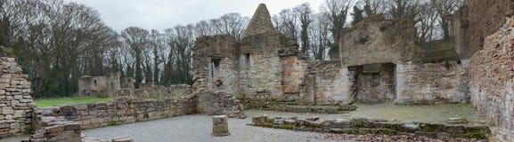 De historische ruïnes van de Basingwerkabdij in Greenfield, dichtbij Holywell-Noord-Wales Royalty-vrije Stock Fotografie