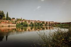 De historische stad van Albi in Frankrijk royalty-vrije stock foto's