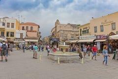 De historische stad van Chania stock foto