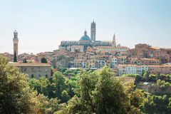 De historische stad van Siena in Toscanië Royalty-vrije Stock Foto's