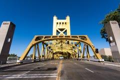 De historische Torenbrug, Sacramento royalty-vrije stock foto